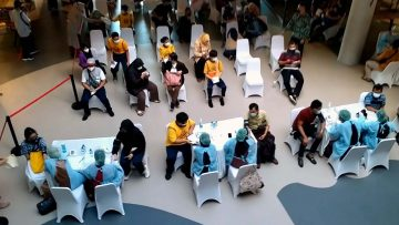 ABUJAPI Ikutkan Program Vaksinasi Satpam di Mall Citos