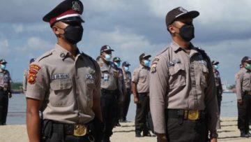 Kapolresta Denpasar Lantik Ratusan Satgas Covid-19 Satpam